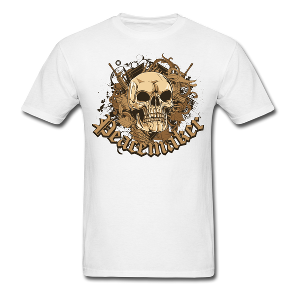 Peacemaker Skull T-Shirt - white