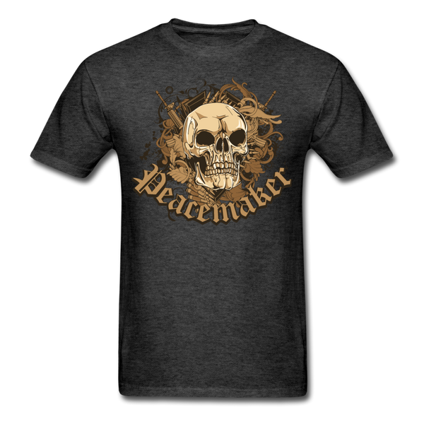 Peacemaker Skull T-Shirt - heather black