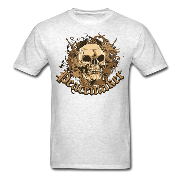 Peacemaker Skull T-Shirt - light heather gray