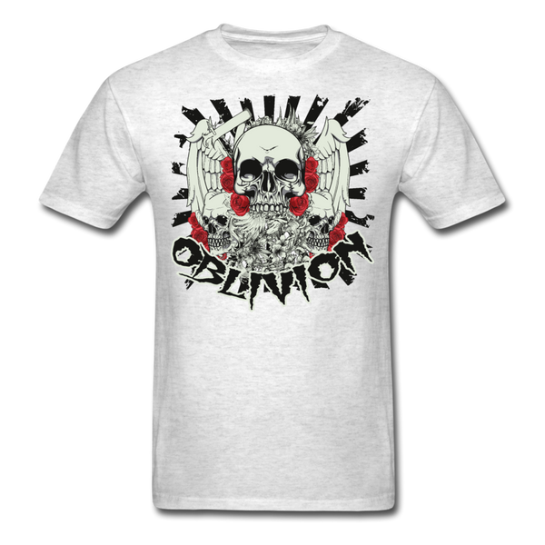 Oblivion Skull T-Shirt - light heather gray