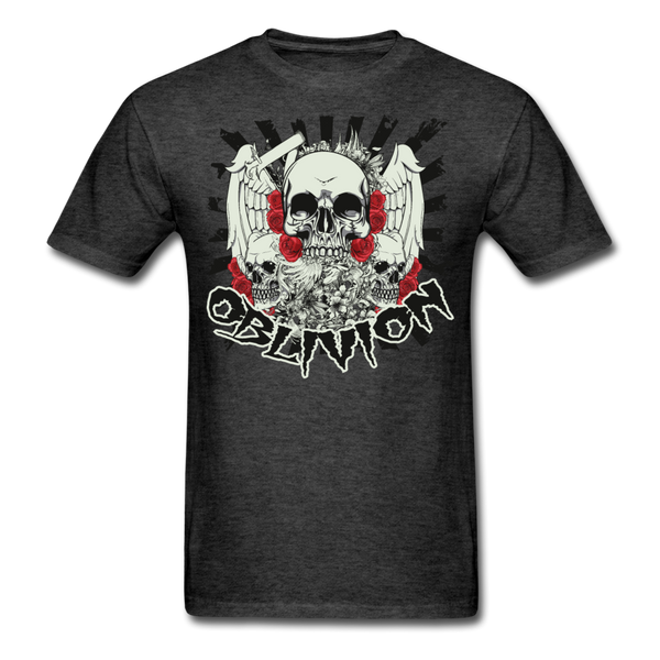 Oblivion Skull T-Shirt - heather black