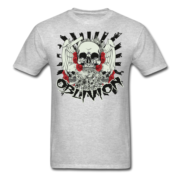 Oblivion Skull T-Shirt - heather gray