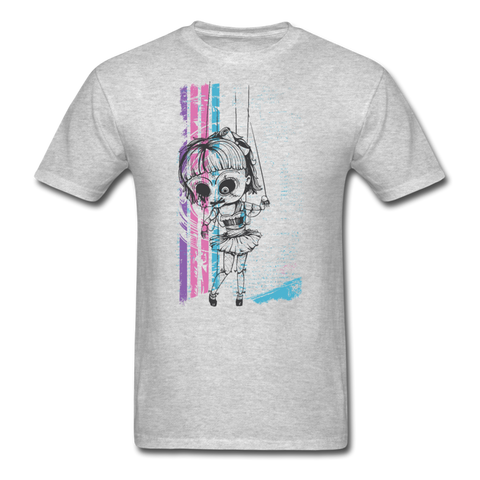 Creepy Marionette T-Shirt - heather gray