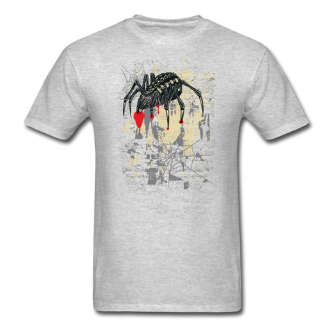 Grungy Spider T-Shirt - heather gray