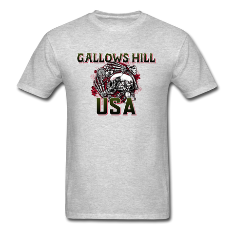Gallows Hill USA T-Shirt - heather gray