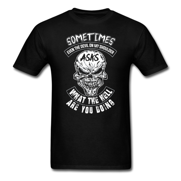 Sometimes Even The Devil on my Shoulder - T-shirt - black