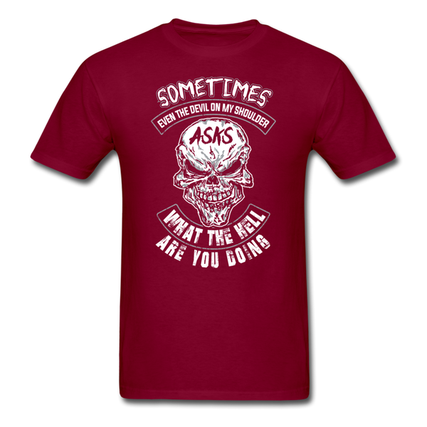 Sometimes Even The Devil on my Shoulder - T-shirt - burgundy