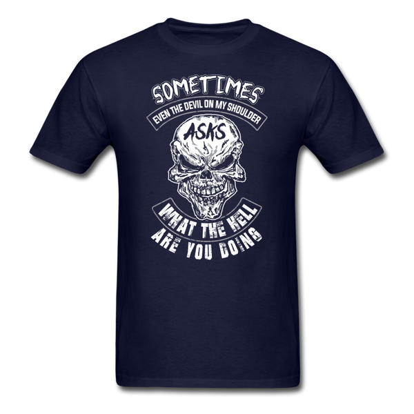Sometimes Even The Devil on my Shoulder - T-shirt - navy