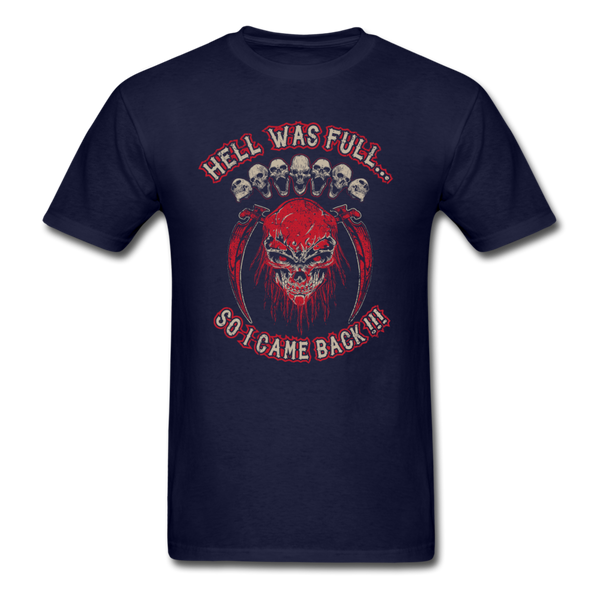 Hell Was Full T-Shirt - navy