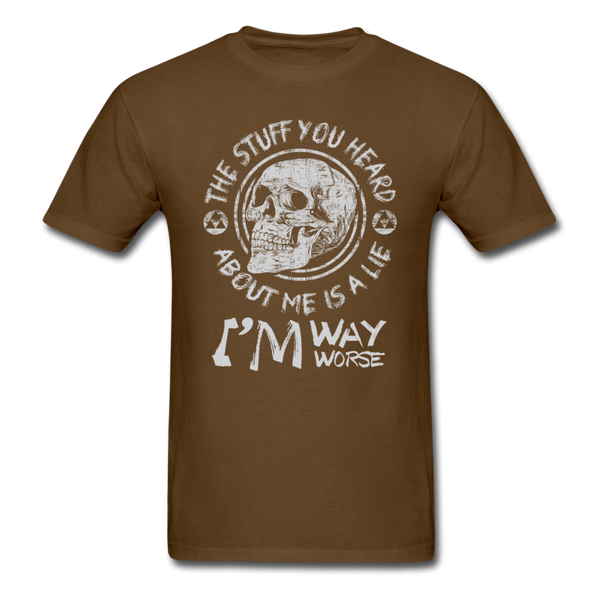 The Stuff You Heard T-Shirt - brown
