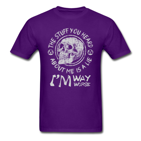 The Stuff You Heard T-Shirt - purple