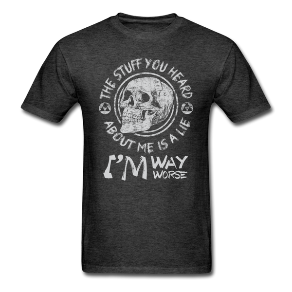 The Stuff You Heard T-Shirt - heather black