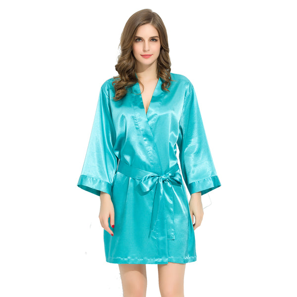 Luxurious Turquoise Bridesmaid Robes + Complimentary Snapchat Geofilter