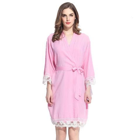 Pink Sherbet Cotton Lace Robe