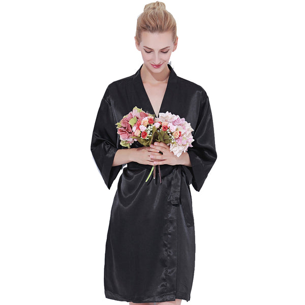 Black Luxurious Bridesmaid Robes