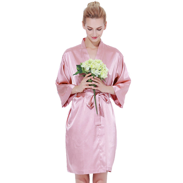 Dusty Rose Luxurious Bridesmaid Robes + Complimentary Snapchat Geofilter