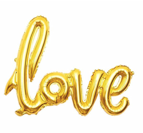 Gold Love Balloon
