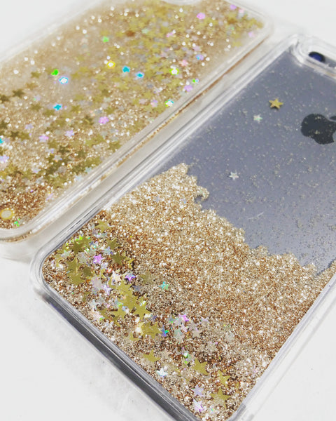 Gold Liquid Glitter Case