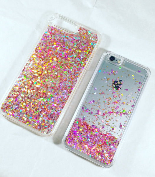 best website d21c9 d3c37 Multi Pink Liquid Glitter Case