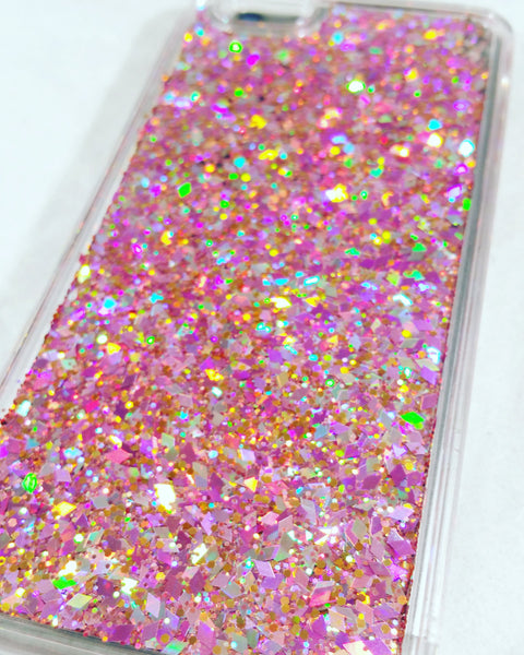 Multi Pink Liquid Glitter Case