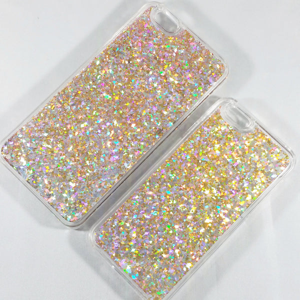 Multi Gold Liquid Glitter Case