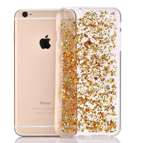 Gold Foil Leaves Case
