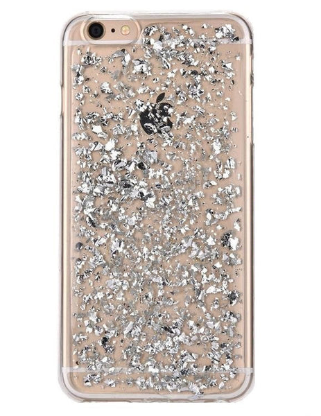 Silver Foil Leaves Case