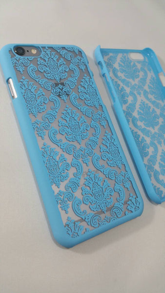 Vintage Blue Damask iPhone Case