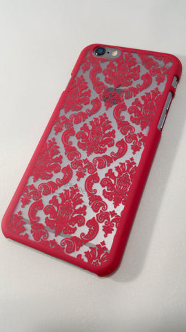 Vintage Red Damask iPhone Case