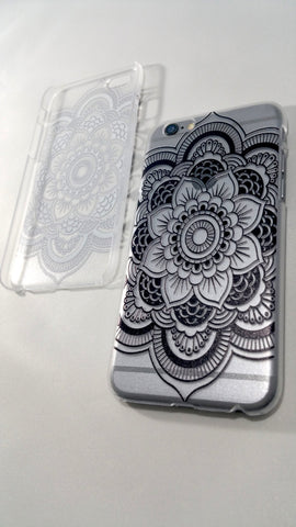 Black Henna Mandala iPhone Case