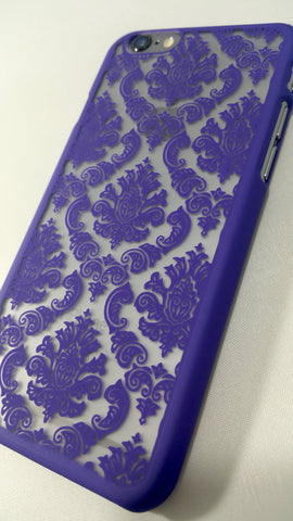 Vintage Purple Damask iPhone Case