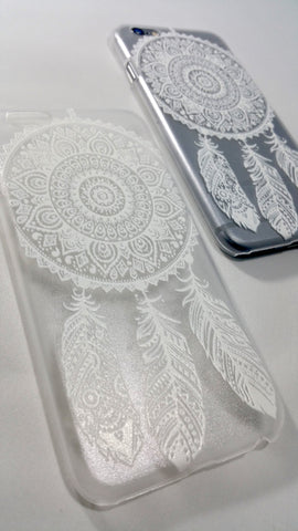 White Henna Dreamcatcher Case for iPhone & Samsung