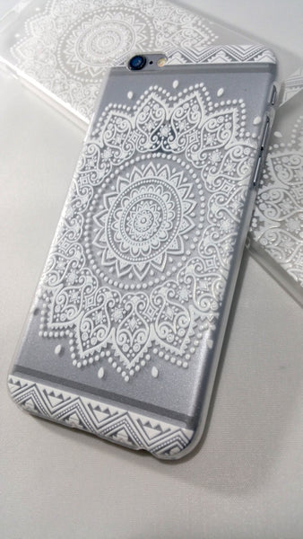 sale retailer 93849 15583 White Henna Floral Mandala Case for iPhone & Samsung