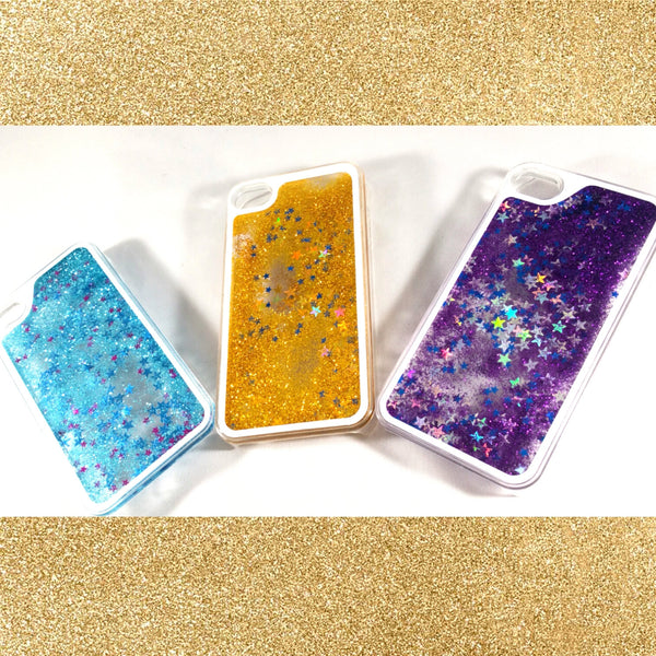Liquid glitter stars quicksand iPhone 4 4S Case