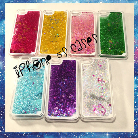 Liquid glitter stars quicksand iPhone 5 5S Case