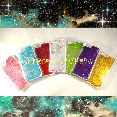 Liquid glitter stars quicksand iPhone 6 6S Case