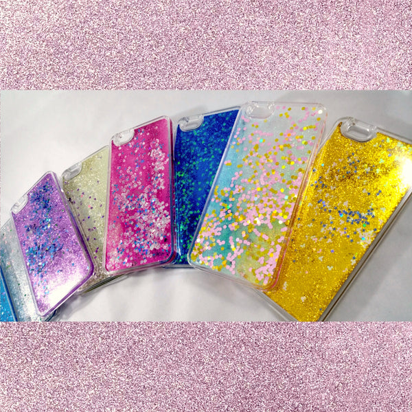 Liquid glitter iPhone 6 plus 6S plus stars hearts and shapes!