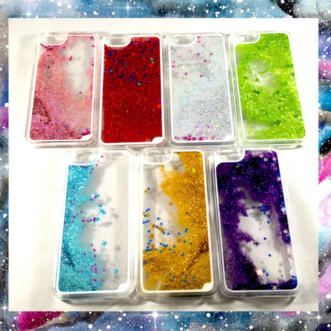 Liquid Glitter Star iPhone Cases