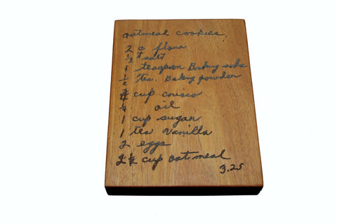 Handwritten Recipe Butcher Block