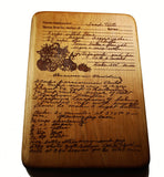 Handwritten Recipe Cutting Board Large Size 15x10