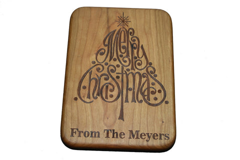 We Wish You A Merry Christmas Custom Cutting Board