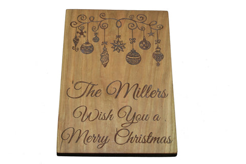 Holiday Greetings Custom Cutting Board