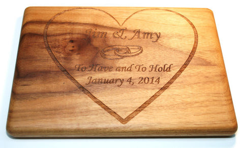 Wedding Heart Custom Cutting Board