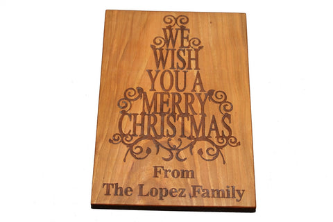 Holiday Wishes Custom Cutting Board