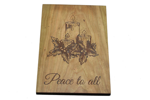 Holiday Peace Custom Cutting Board