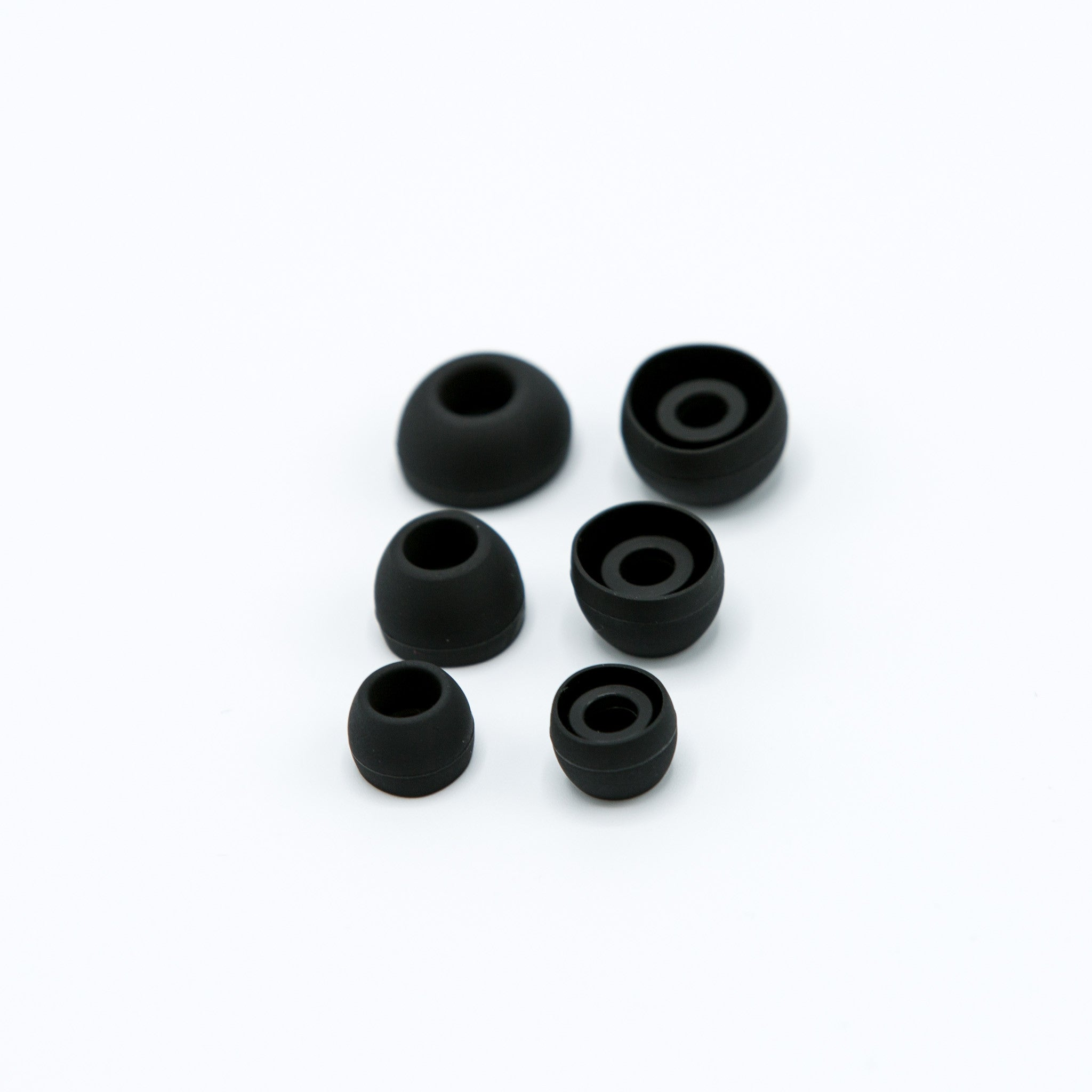 Black Silicone Earbud Tips