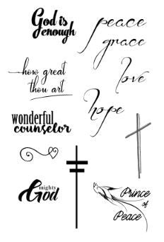 How Great Thou Art Acrylic Stamps
