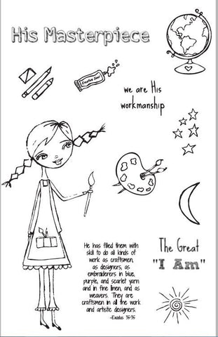 God's Girls Acrylic Stamps- Creativity