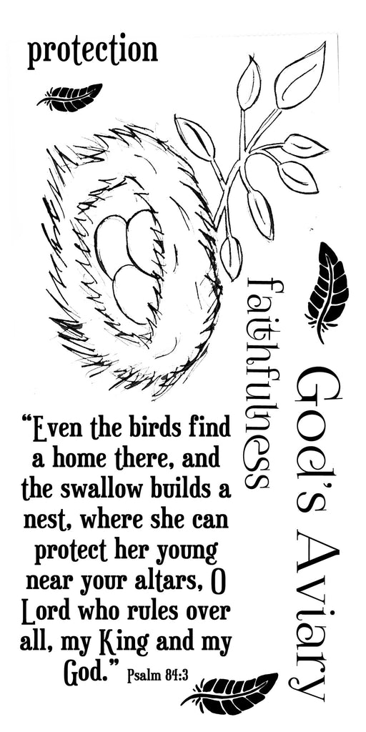 God's Aviary Nests Acrylic Stamps