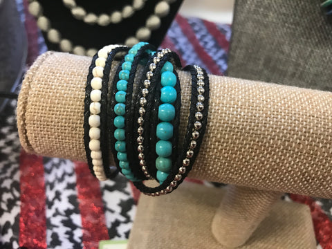 Black and Turquoise Wrap